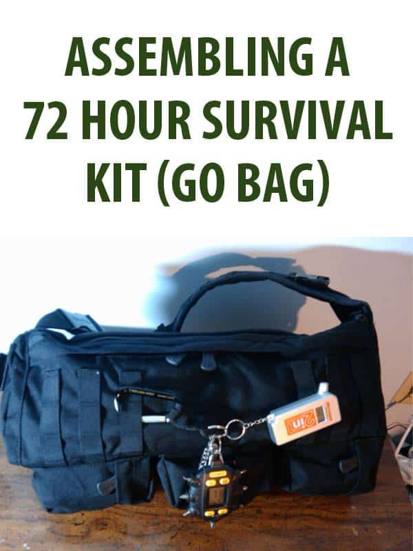 72-hour survival kit pinterest