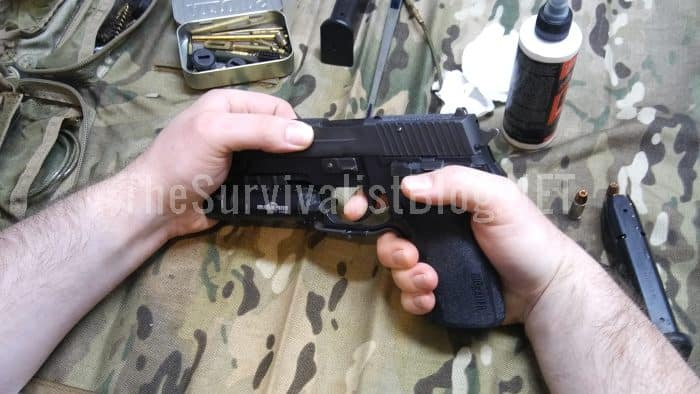 holding hand on gun muzzle wrong