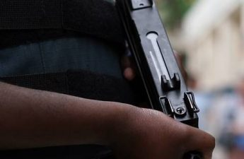 man wearing body armor