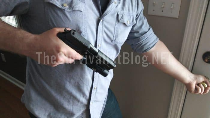 opening door with trigger on finger
