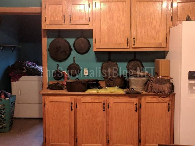 cast iron cookware in the kitchen
