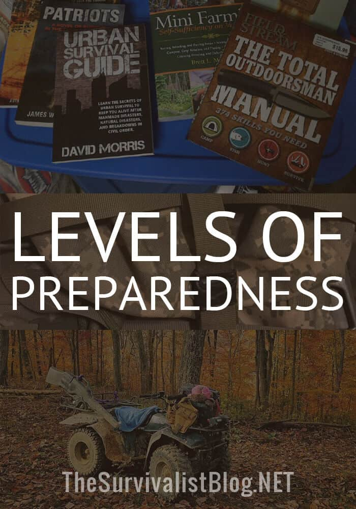 levels of preparedness pinterest image