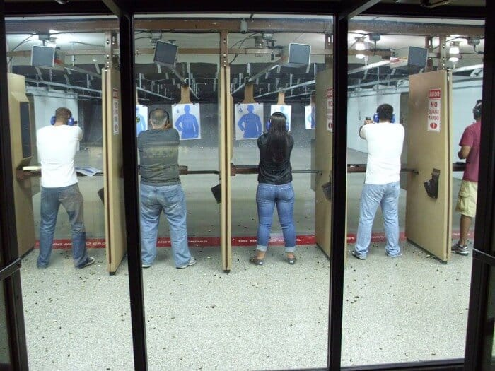 people at the shooting range