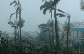 hurricane in progress