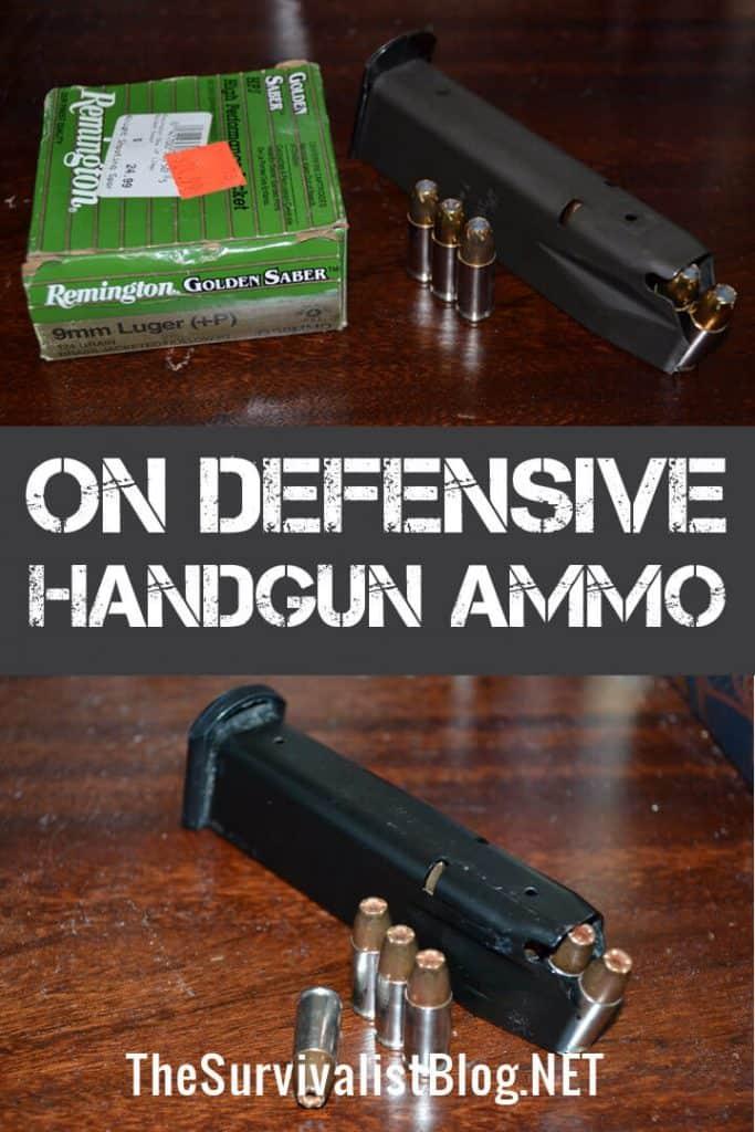 defensive handgun ammo pinterest image