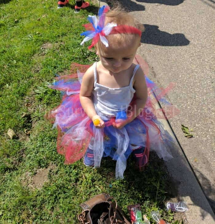 little girl dressed up for Memorial day