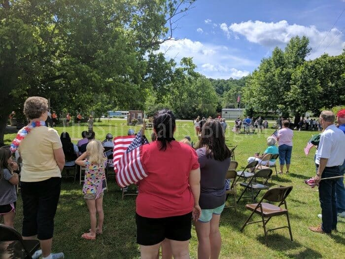 people observing the memorial Day parade