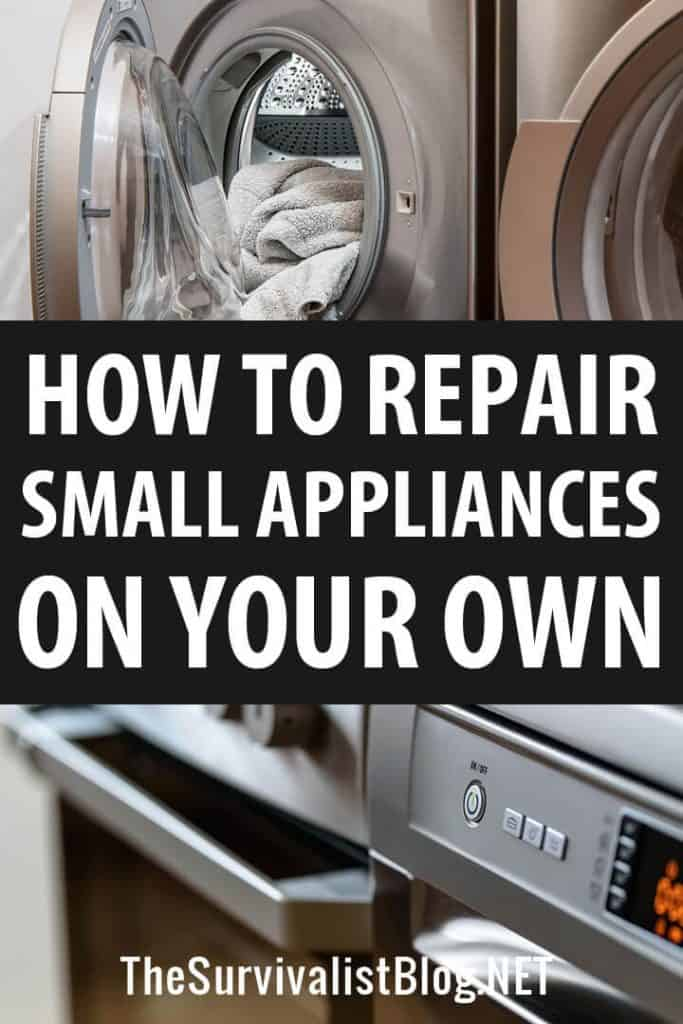 repair small appliances pinterest image