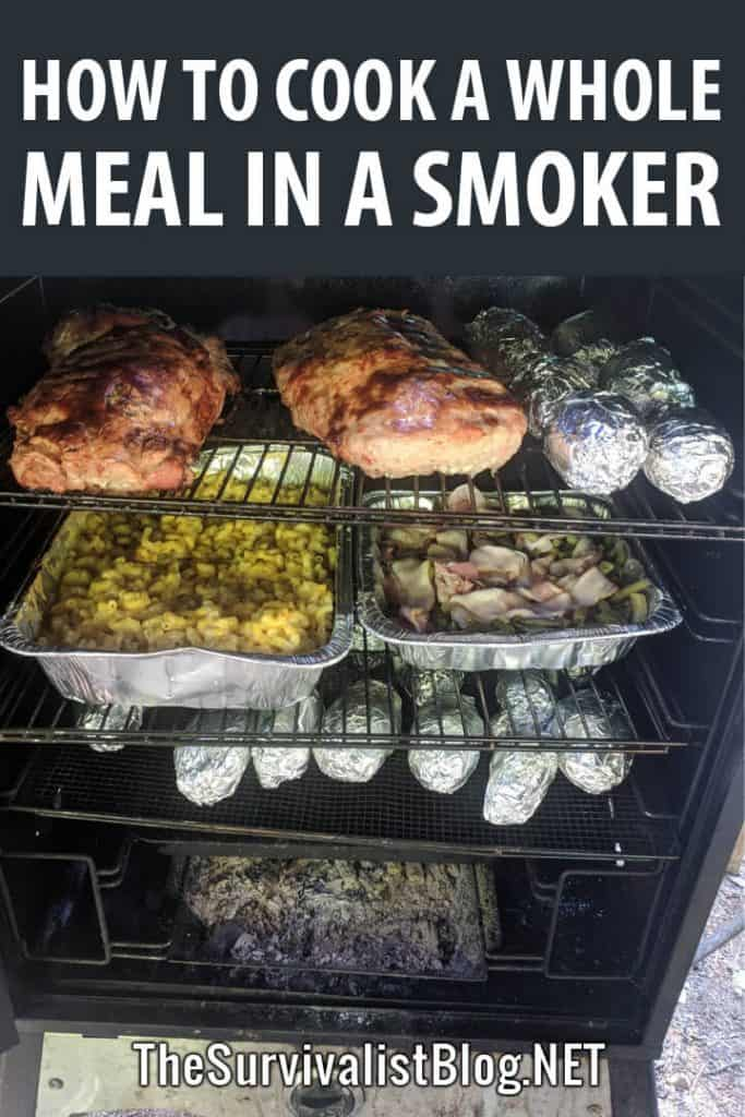 whole meal smoker pinterest