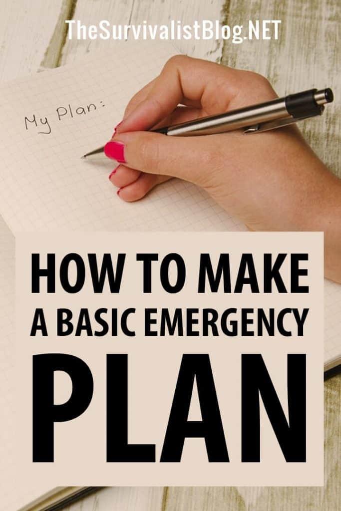 basic emergency plan pinterest image