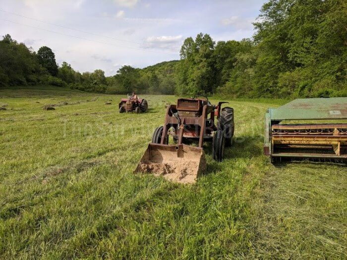 tractors in the field