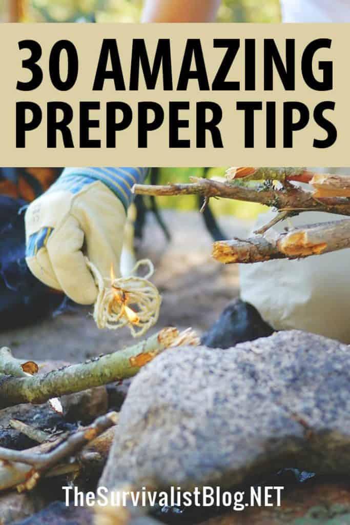 prepper tips pinterest image