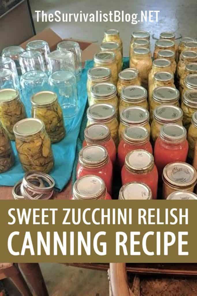 zucchini relish canning recipe pinterest