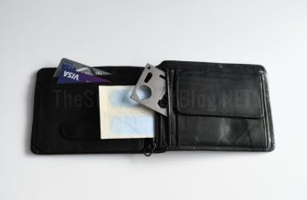 wallet with survival items