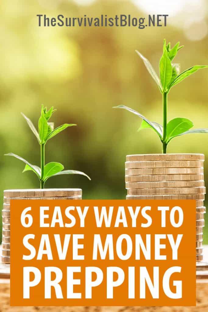 saving money prepping Pinterest image