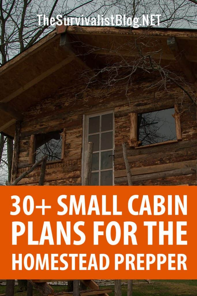 small cabin plans Pinterest image