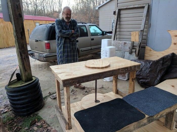 DIY pottery wheel