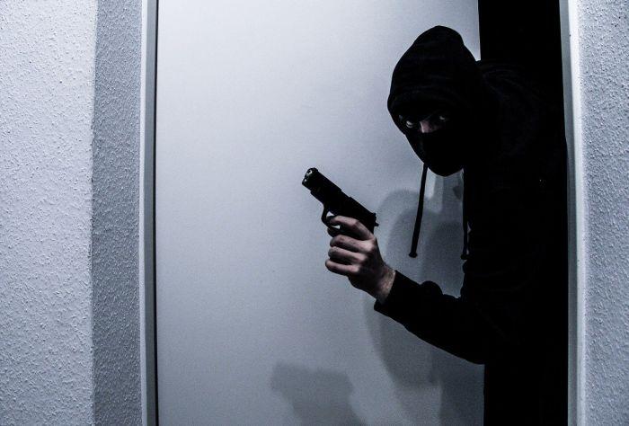 burglar with a gun