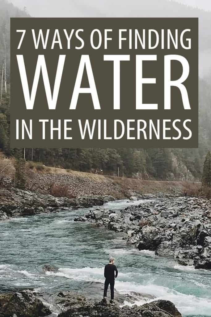 finding water in the wilderness Pinterest image