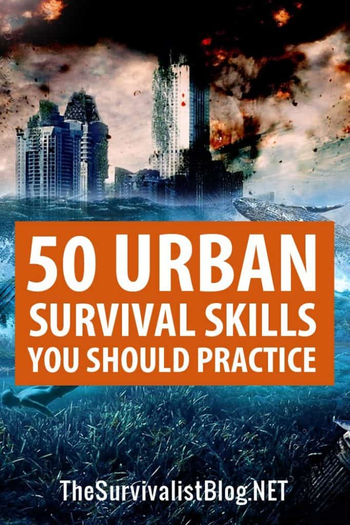 urban survival skills Pinterest image