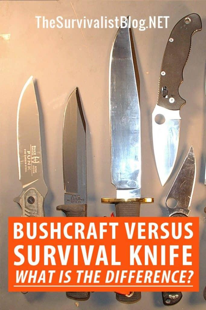 bushcraft vs. survival knife Pinterest