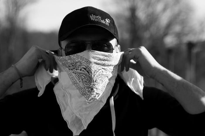 man wearing a bandana