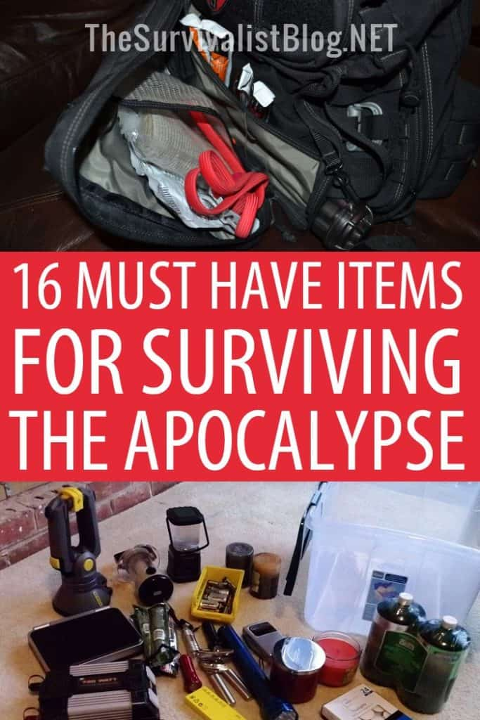 must have survival items pinterest image
