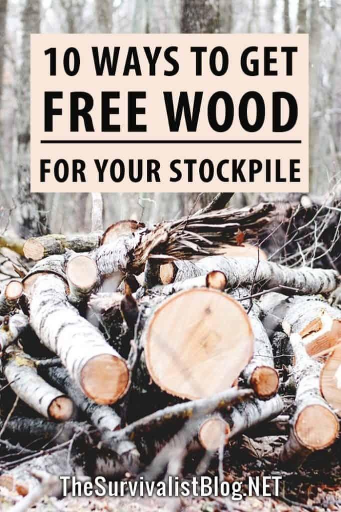 wood stockpiling Pinterest image
