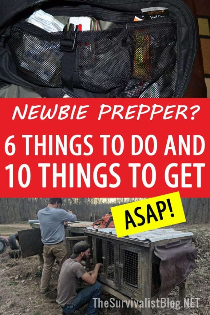 newbie prepper advice Pinterest