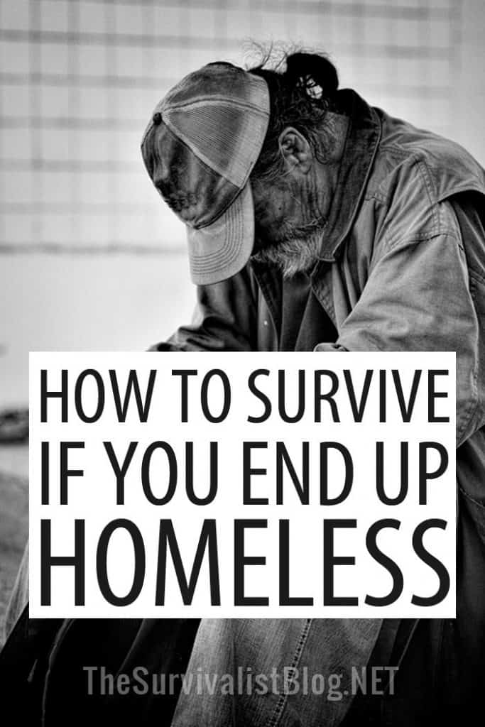 surviving homelessness Pinterest image