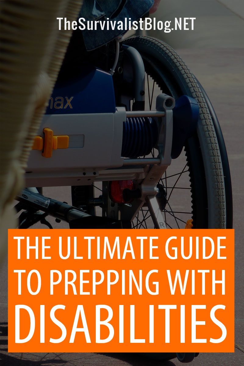 prepping with disabilities Pinterest