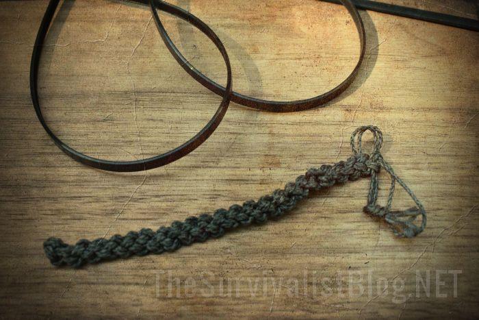 zip ties and Kevlar string