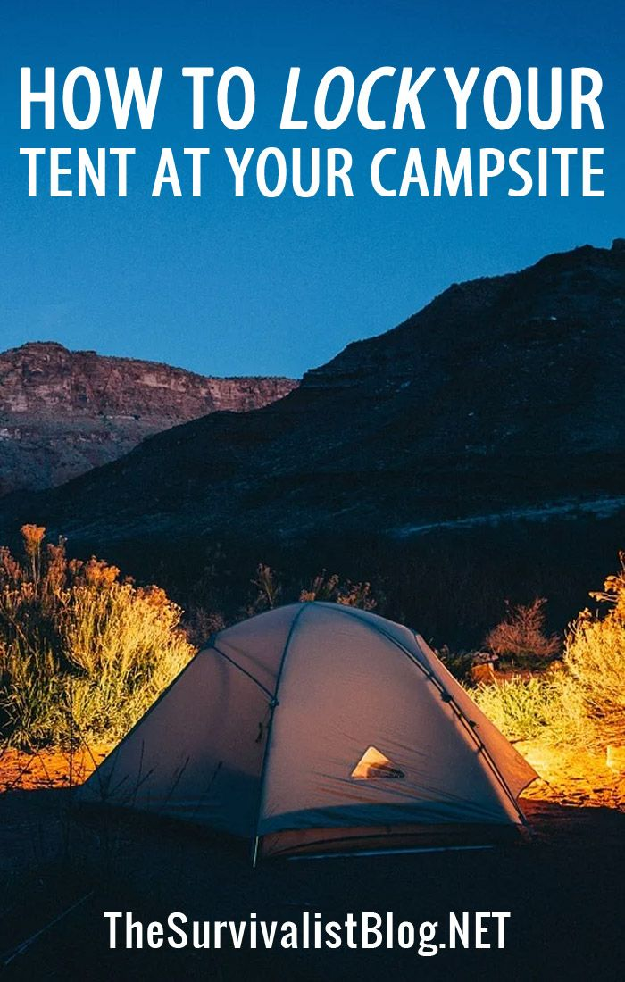 locking your tent pin