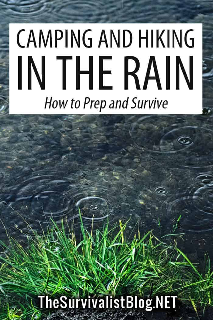 camping in the rain Pinterest image