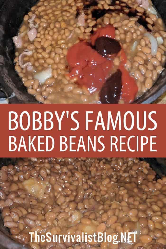 baked beans recipe Pinterest image