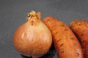 Onion and Sweet Potato