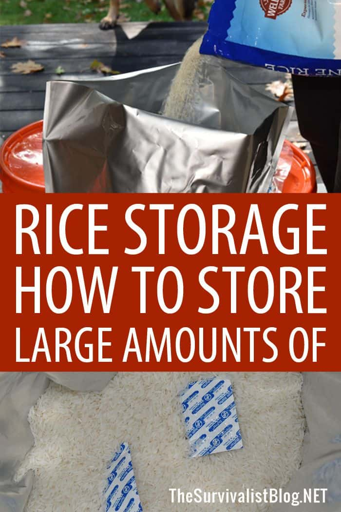 rice storage Pinterest image