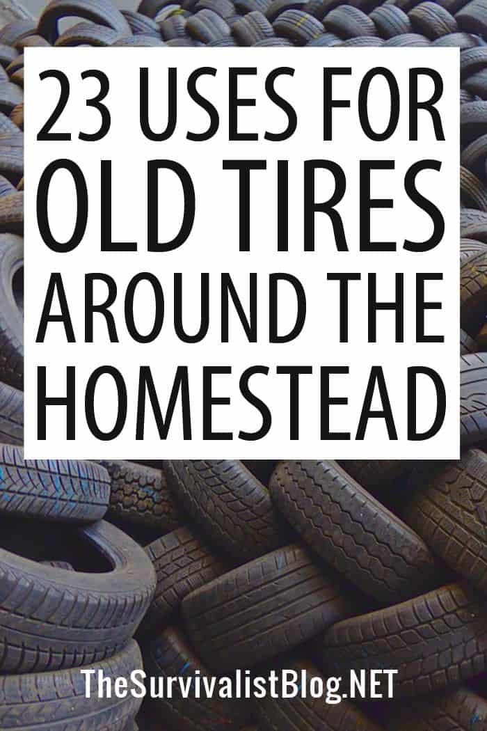 uses for old tires Pinterest image
