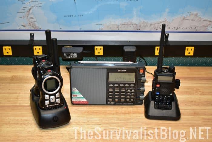 Motorola, BaoFeng UV-5R, Tecsun PL880 radios