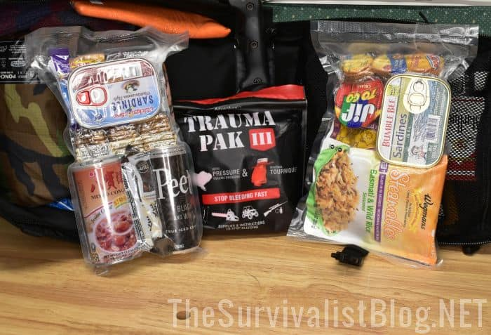 MREs packed for bug out bag