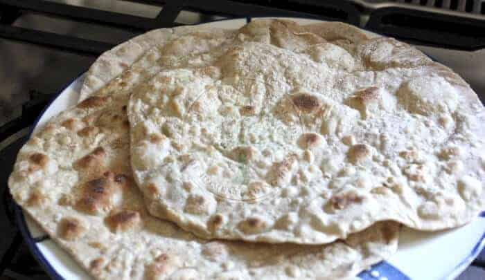 Plate of Moroccan flatbread