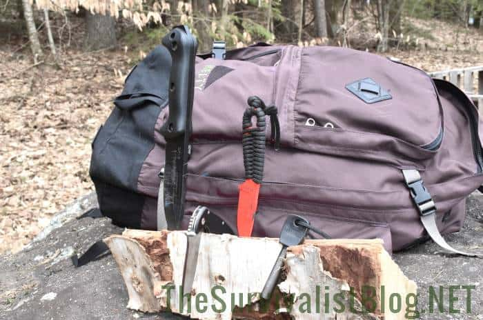bug out bag and knives