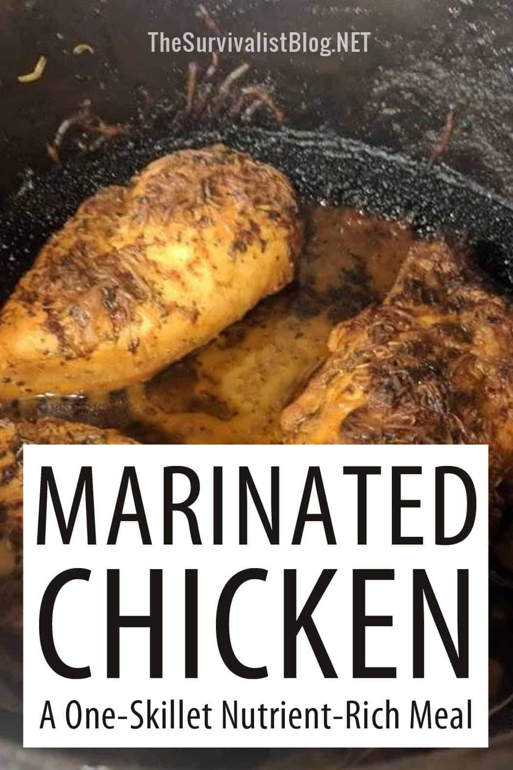 marinated chicken pinterest image