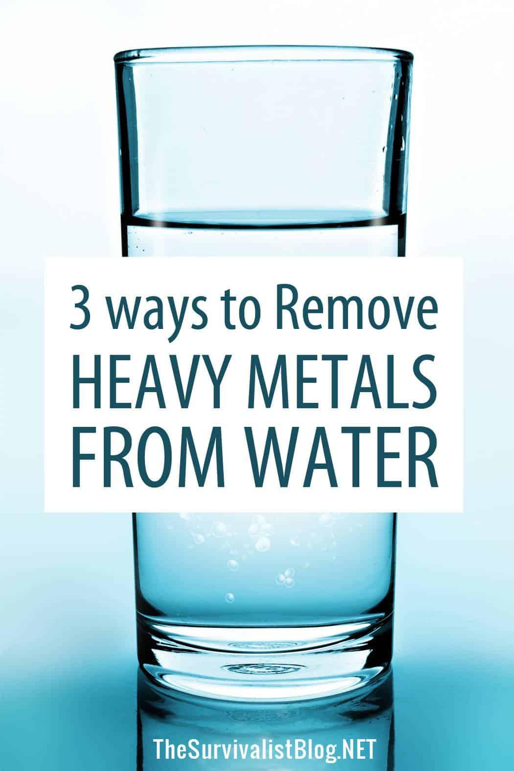 removing heavy metals Pinterest image